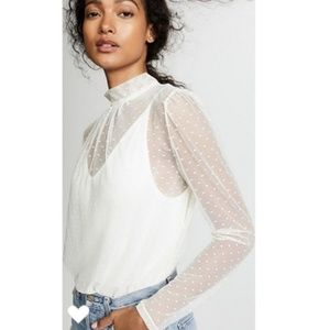 Free People Mesh Lace Bodysuit xs
